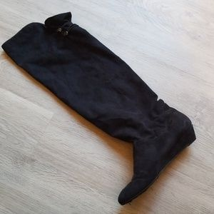 Faux suede over the knee black boots!!!! Sz 8.5